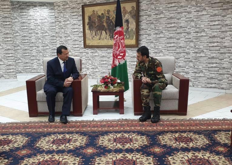 Gen. Asadullah Khalid Acting Defense Minister meets with Chief of the State Committee for National Security of Tajikistan!